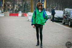 Ece Sukan before the Chanel fashion show.