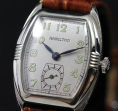 1931 Hamilton Perry Vintage Men's Watch found on www.rubylane.com