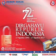 DIRGAHAYU REPUBLIK INDONESIA KE 72  [ K E N A R I D J A J A ] PELOPOR PERLENGKAPAN PINTU DAN JENDELA SEJAK TAHUN 1965  Informasi Hub. : Ibu Tika 0812 8567 7070 ( WA / Telpon / SMS ) 0819 0506 7171 ( Telpon / SMS )  Email : digitalmarketing@kenaridjaja.co.id  SHOWROOM :  JAKARTA & TANGERANG 1 Graha Mas Kebun Jeruk Blok C5-6 Telp : (021) 536 3506, Fax : (021) 530 0592  2 Jl. Pinangsia Raya 16 B-C Telp : (021) 690 5280, Fax : (021) 690 4846  3 Jl. RS. Fatmawati 72/14-..