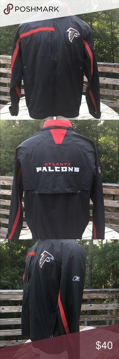 NWOT Atlanta Falcon Men s NFL Team Jacket. Size L NWOT NFL ATEAM APPAREL  REEBOK On 15b71afc5