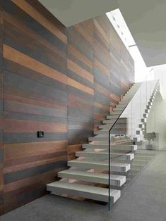 Modern staircase - Elegant Glass Stairs Design Ideas For You This Year – Modern staircase New Staircase, Floating Staircase, Staircase Railings, Wooden Staircases, Staircase Design, Stair Design, Staircase Ideas, Stairs Architecture, Interior Architecture