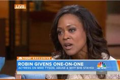 Robin Givens and I sat down to discuss domestic violence in America. Great interview!