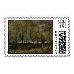 Poplars Near Nuenen by Vincent Van Gogh Stamps