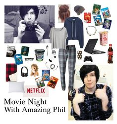 """""""Movie night with amazing Phil"""" by dr-hopepotterwho on Polyvore featuring Speck, MANGO, Markus Lupfer, Chicnova Fashion, Capelli New York, Robbe & Berking, Madewell, European Heritage, Coal and Itsy Bitsy"""