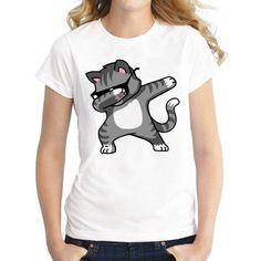 haoqifetniu Dabbing Unicorn Women T Shirt Short Sleeve O-Neck Tops Fashion Panda/Pug/Cat Cartoon Printed Hip Hop Tee Shirts