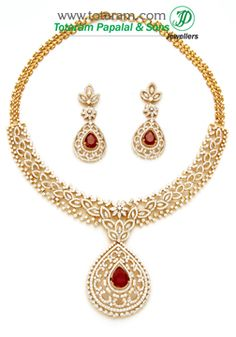 Totaram Jewelers: Buy 22 karat Gold jewelry & Diamond jewellery from India: Diamond Necklace Sets
