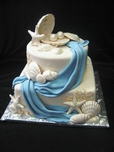 sea side cake theam | Jacksonville Wedding Cakes: Beach Themed Wedding Cakes