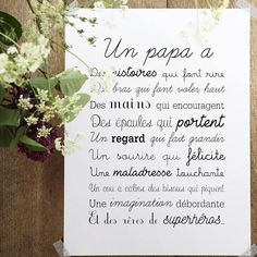 Image of Affiche Exclusive Un Papa Citations Souvenirs, Love Gifts, Gifts For Mom, When I Dream, Jolie Phrase, Fathers Day Crafts, Color Psychology, Positive Attitude, My Baby Girl