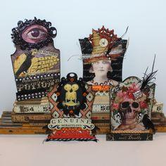 By Susan Dietz for the Retro Café Art Gallery 2014 Tombstone Art Swap! www.RetroCafeArt.com