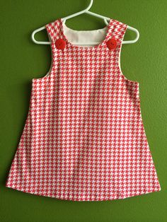 ADORABLE Christmas dress!!  Size Large Dress 2124 Lbs  Home sewn baby Rompers by RomperBaby, $12.00