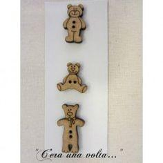 Set 3 Bottoni in legno bears http://www.merceriaceraunavolta.it/24-creative-crafs#/