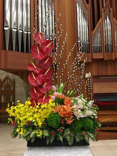 2018.03.04 主日插花 02 Flower arrangements for the church 教会のフラワーアレンジメント