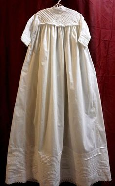 Vintage/Antique baby dress christening long white gown lace doll #Christening
