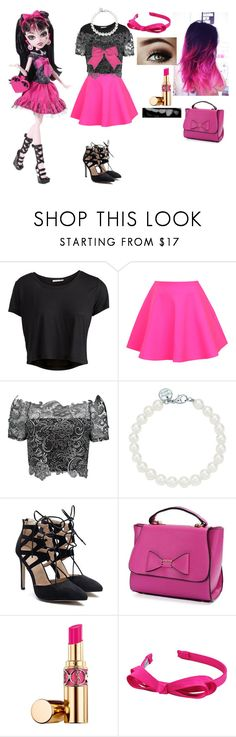 """draculaura recreate outfit"" by axelyamary ❤ liked on Polyvore featuring Pieces, UNIF, Chassè, Tiffany & Co., Lauren Conrad, Yves Saint Laurent and L. Erickson"