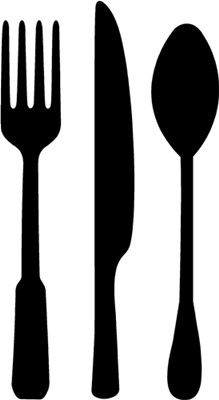 Fork, Spoon, & Knife - Vinyl Wall Art, Graphics, Lettering, Decals, Stickers