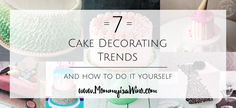 Looking for a new way to decorate a cake. Try one of these popular trends and make your next cake the talk of the party. Read now or pin for later.