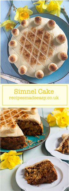 Simnel Cake is a classic Easter fruit cake decorated with marzipan and with a layer of marzipan baked in the middle. via /jacdotbee/