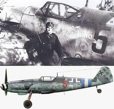 Erla-built Bf 109 G-10  'Red 5' ,Friedrich Wilhelm Schenk 'Timo' , Staffelführer of 2/JG300 .February 1945