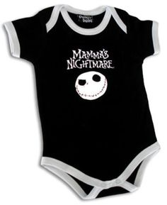 MAMMAS-NIGHTMARE-PUNK-METAL-BLACK-BABY-SUIT-SHIRT-before-Christmas-babysuit