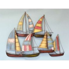 Sailboats - this is such a great metal wall hanging I want one!