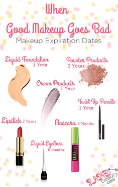 Just like food, our makeup expires and can be unsafe after a certain period of time. Consider these makeup expiration dates while cleaning out your makeup.