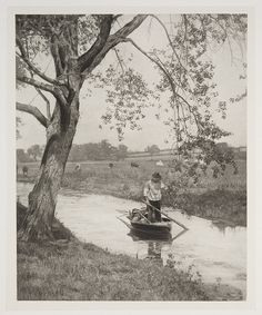 'A Suffolk Dike' Peter Henry Emerson Pictorialist (pictorial) photography National Media collection Flickr -