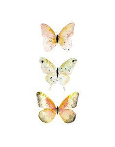 Watercolor Butterfly Print. Nursery Decor. Girls Nursery Art. by ann