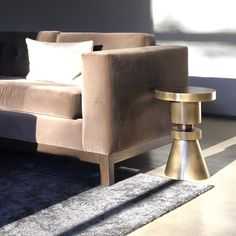 Happy Sunday! One of my favorite pieces - The chess stool by @annakarlinstudio Hudson Sofa by #Desiron