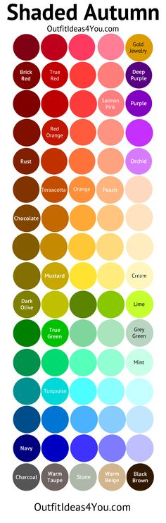 Deep Autumn Color Palette (Shaded Autumn)