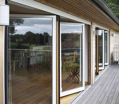 Composite Bifold doors give that natural look while keeping the utility of the Aluminium doors.