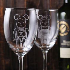(一對價)350cc【MSA結婚熊對杯】婚禮熊紅酒對杯禮組 結婚禮物 結婚週年酒杯客製