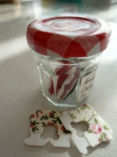 bread clips + fabric tapes.....use with gift bags