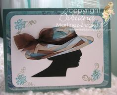 By Bibiana #Irisfolding technique, for complete #tutorial with photos visit me at My Personal blog: http://stampingwithbibiana.blogspot.com/2013/03/iris-folding-easter-ladies-hat.html