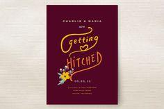 Spring Produce Wedding Invitations