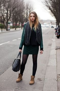 Real people rocking the work boot, casual street style