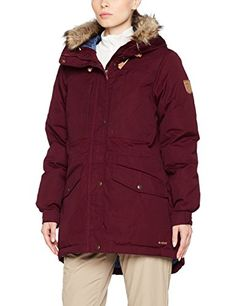 Fjallraven Womens Singi Down Jacket Dark Garnet XL -- Check out the image by visiting the link. (This is an affiliate link) #WomensSkiingClothing