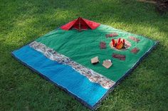"I love the idea of a ""map"" quilt, so kids can play pretend on it--like those rugs for cars."