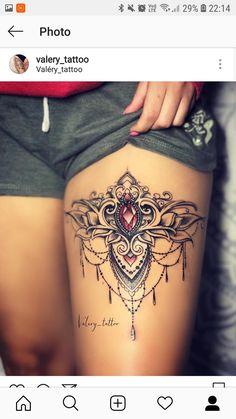 Tattoos for myself - tatoo feminina Gem Tattoo, Tattoo Bein, Jewel Tattoo, Mandala Tattoo, Pretty Tattoos, Sexy Tattoos, Life Tattoos, Body Art Tattoos, Tattoos Motive