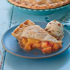 Brown sugar-cinnamon peach pie.  Southern Living