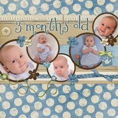 3 months old.  challenge_29_web #babyscrapbooks