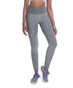 Look what I found on #zulily! Climawear Gray Melange High-Waist Ribbed-Accent Seamless Leggings by Climawear #zulilyfinds