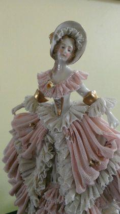 Dresden Porcelain Lace Figurine | eBay