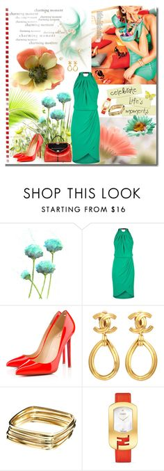 """""""Life's moments"""" by gracijabakrac ❤ liked on Polyvore featuring Beauty & The Beach, Karl Lagerfeld, Fendi, Christian Louboutin, Chanel and ASOS"""