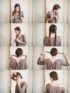 Sincerely, Kinsey: Twisted Maiden Braid Bun // Hair Tutorial