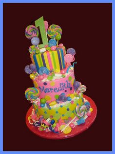 Candy Cake For Birthday Candy Theme Birthday Party, Candy Birthday Cakes, Candy Land Theme, Candy Cakes, Candy Party, Birthday Fun, Birthday Ideas, Turtle Birthday, Turtle Party