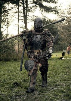 Krushak - Czech Larp Larp Armor, Knight Armor, Medieval Armor, Medieval Fantasy, Medieval Knight, Troll Costume, Knight Costume, Orc Warrior, Costume Armour