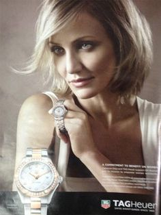 CAMERON DIAZ for TAGHeuer watches