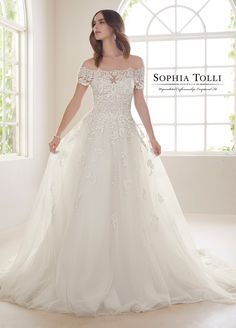 Sophia Tolli Wedding Dresses 2019 for Mon Cheri - Bridal Gowns Tulle Wedding Gown, Bridal Dresses, Bridal Collection, Dress Collection, Sophia Tolli, Wedding Dress Gallery, Marie, Lace Dress, Wedding Ideas