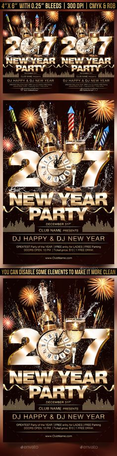how to make party flyers - Baskanidai - new years party flyer