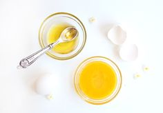 Raw Egg & Olive Oil Hair Treatment | Egg yolk is rich in fats and proteins & naturally moisturizing | Egg whites contain enzymes that kill bacteria and remove unwanted oils | olive oil acts as an emollient that locks moisture into your hair